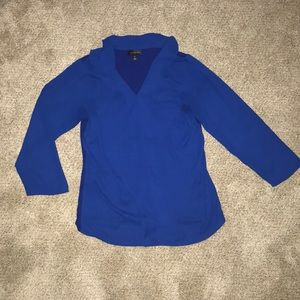 The Limited size small tall royal blue shirt